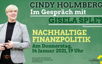 Nachhaltige Finanzpolitik – Cindy Holmberg im Gespräch mit Finanzstaatssekretärin Gisela Splett