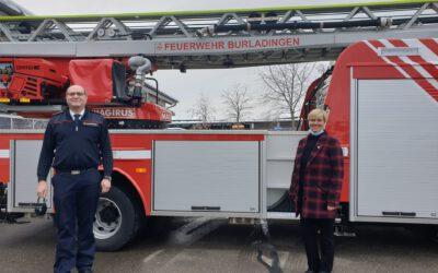 Blaulichttour mit Cindy Holmberg –                                                    Besuch bei der Feuerwehr in Burladingen