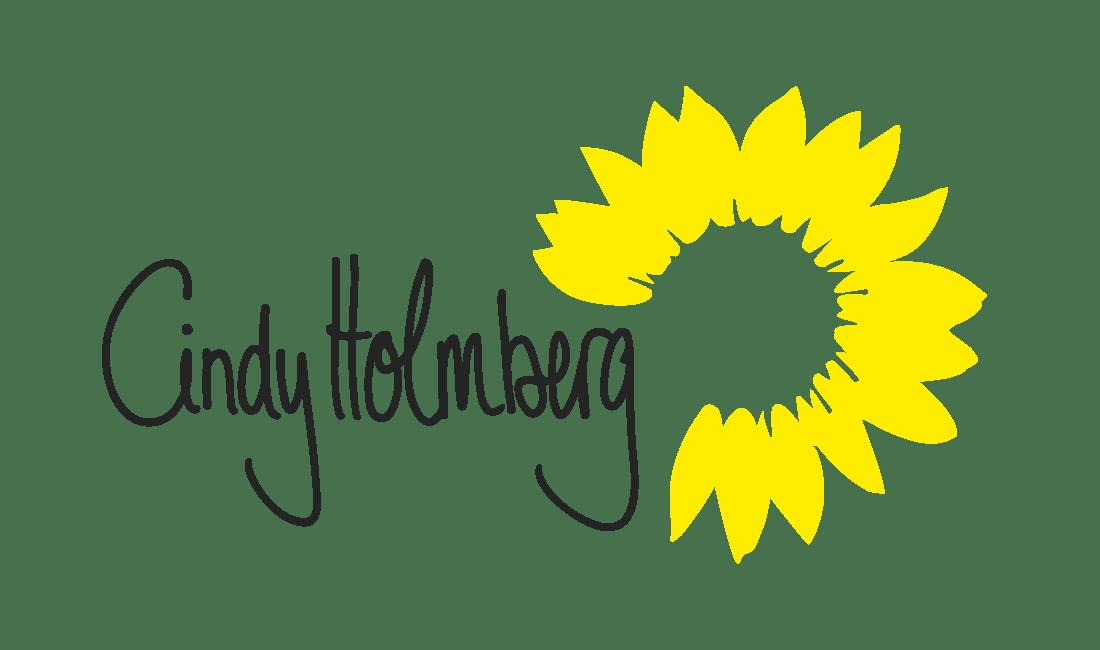 Cindy Holmberg (Unterschrift mit Sonnenblume)