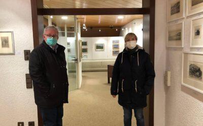 Stadtspaziergang durch Gomadingen mit Bürgermeister Clemens Bez und Petra Krebs, MdL