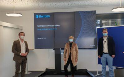 Cindy Holmberg zu Besuch bei der Fa. Bentley InnoMed GmbH in Hechingen