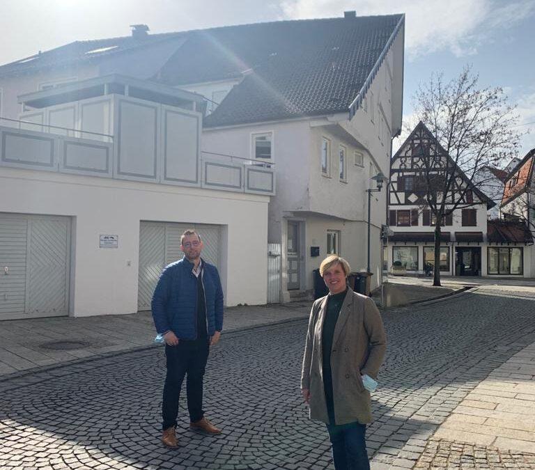 Cindy Holmberg zu Besuch bei der City Initiative Metzingen