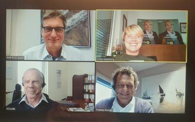 Videokonferenz zum Thema Energiehandel