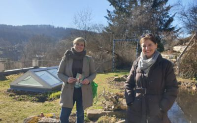 Gartenzaun-Wahlkampf in Gomadingen