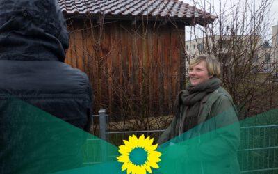 """Wahlkampf am Gartenzaun"" bei uns in Münsingen"