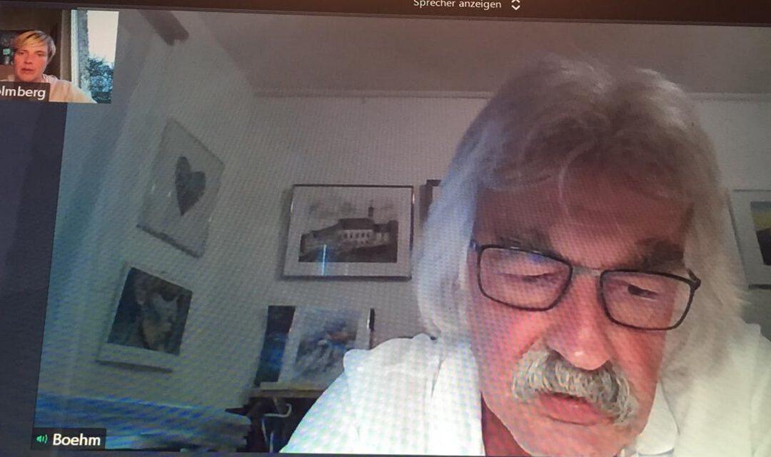 Cindy Holmberg im Gespräch mit Rüdiger Böhm, Vorstand Mariaberg e.V.